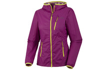 Columbia Women's Trail Fire Windbreaker Jacket berry jam